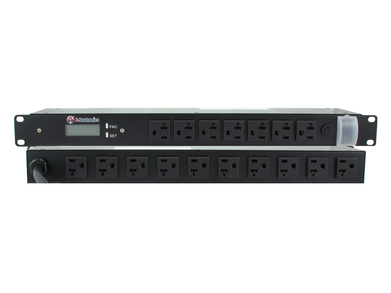 "MS-SL12-RD: 17-OUTLET 19"" RACK MOUNT w/ LCD DISPLAY (20AMP)"