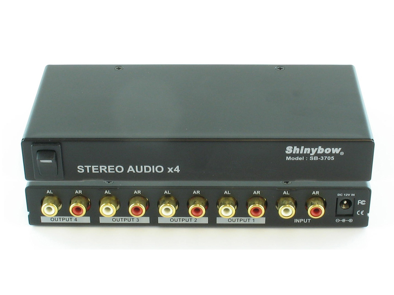 SB-3705: 1x4 STEREO AUDIO (AR/AL) DISTRIBUTION AMPLIFIER