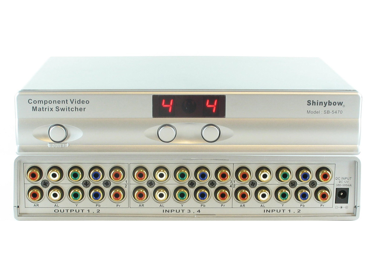 SB-5470: 4x2 COMPONENT VIDEO/STEREO AUDIO HDTV MATRIX ROUTING SWITCHER
